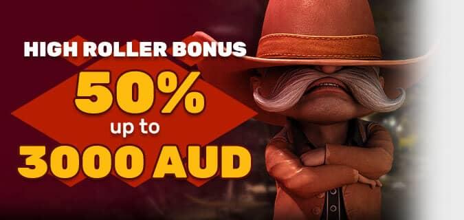 Bonus for Highrollers in Australia